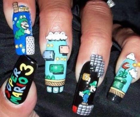 75 Mario 3 Nails