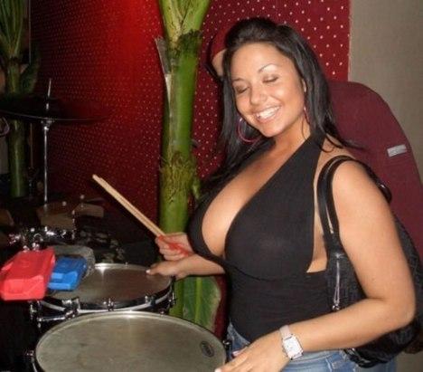 66 Big Boobed Drummer