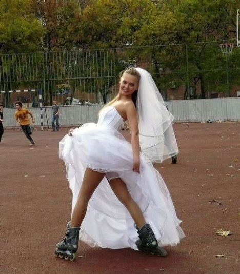 63 Hot Bride on Skates