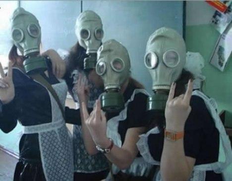 69 Gas Masked Quaker Rocker Girls