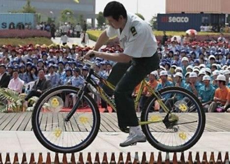 75 Insane Bicycle Balancing on Bottles